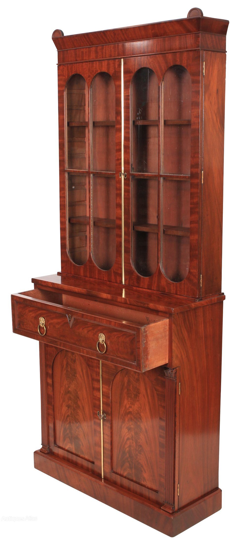 Quality Mahogany Bookcase Antiques Atlas