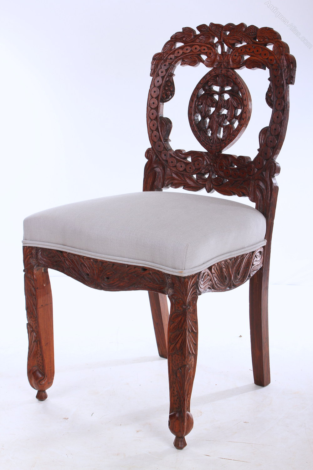 antique dining chairs set of 6 anglo indian rosewood dining chairs antiques atlas 1268