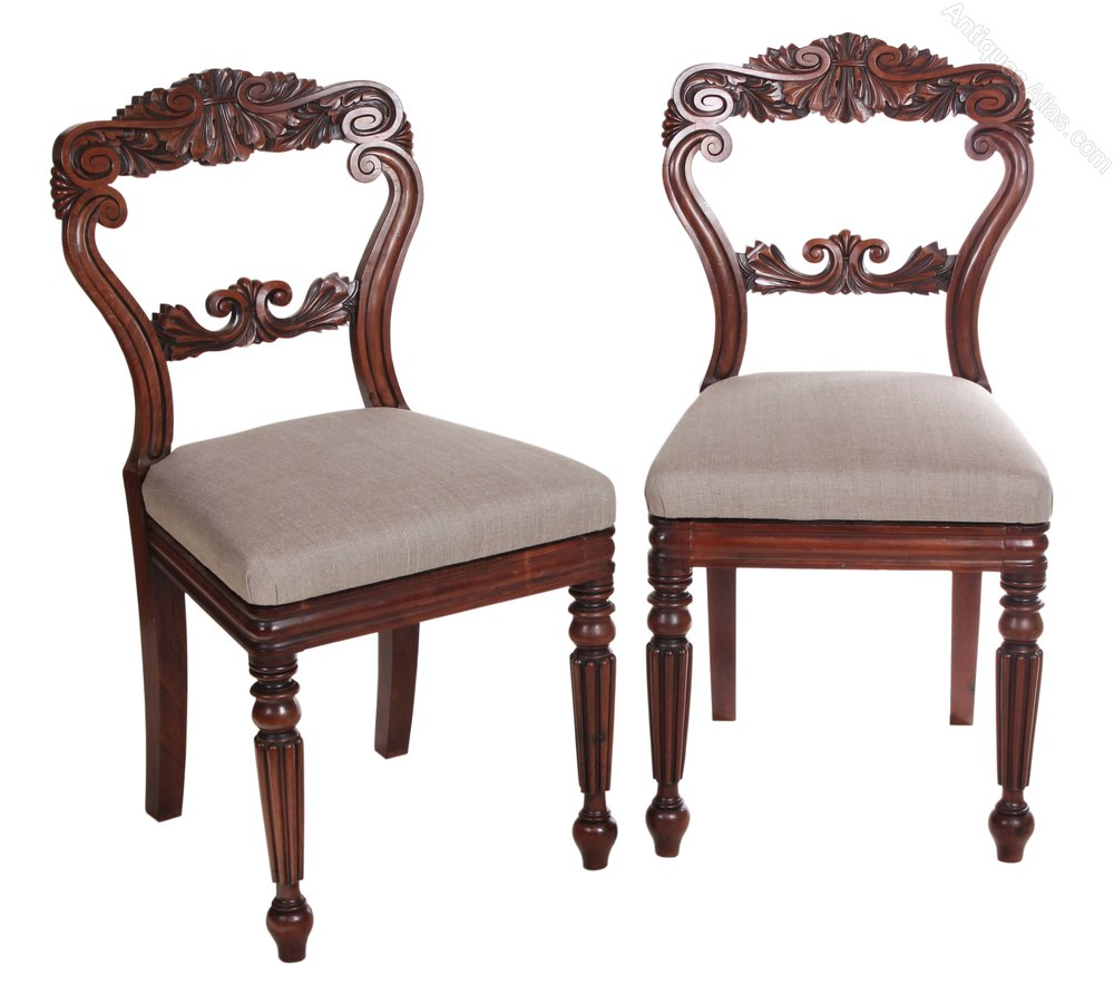 Set of 6 cuban mahogany carved dining chairs antiques atlas for Set of 6 dining chairs