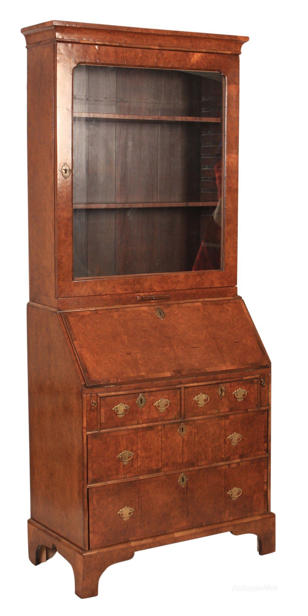 walnut bureau bookcase antiques atlas. Black Bedroom Furniture Sets. Home Design Ideas
