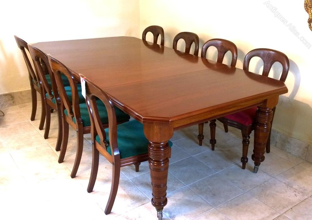 10 seater mahogany dining table c 1890 antiques atlas for 10 seater table