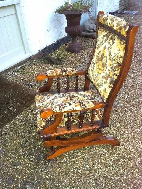 American Rocking Chair. Antique ... - American Rocking Chair. - Antiques Atlas