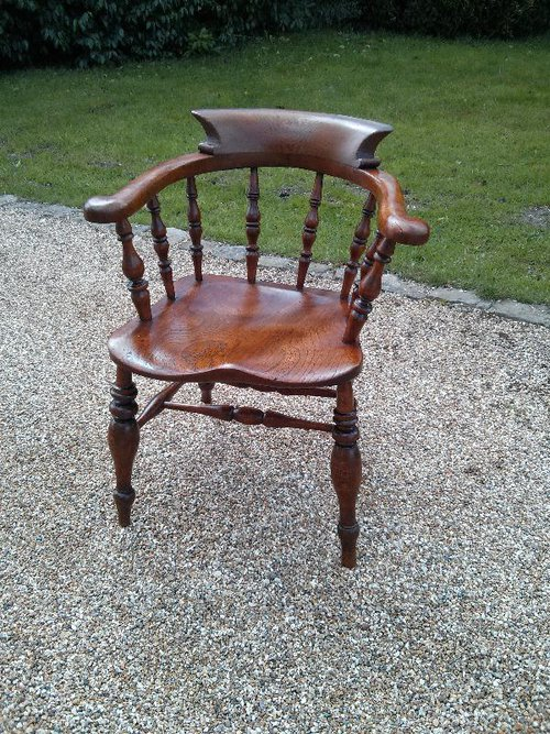 Captains Chair / Smokers Bow Antique Captains Chairs - Captains Chair / Smokers Bow - Antiques Atlas