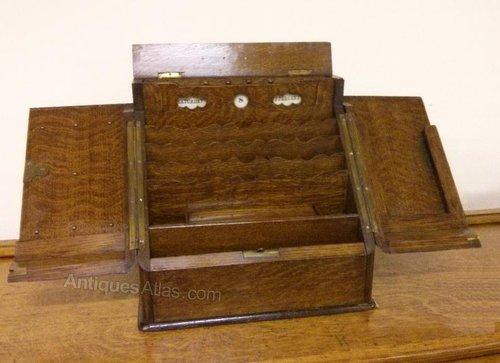 ... Antique Desk Tidy ... - Antiques Atlas - Desk Top Stationery Cabinet, Desk Tidy