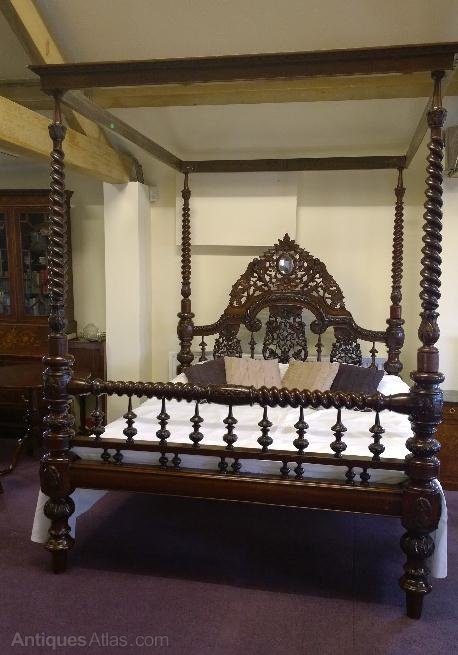 Epic  Antique Four Poster Beds Bed four Post Carved