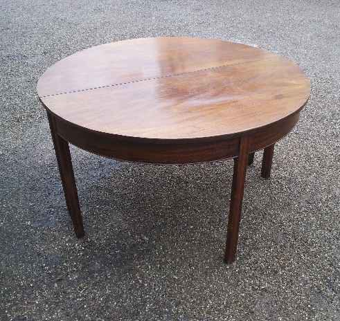 Georgian D End Dining Table In Mahogany 8 Seater Antiques