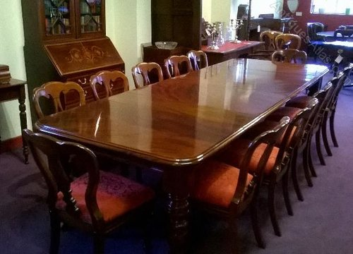 ... Dining Table Set Of 12 Chairs Mahogany %%alt5%%