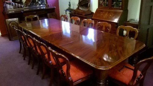 Impressive 12 Seater Mahogany Dining Table, 19th C ...