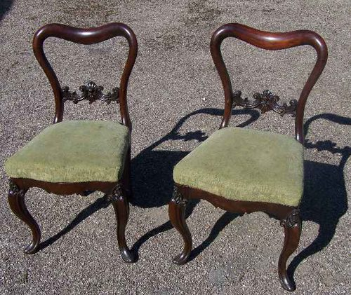 Exceptional Pair Of Rosewood Balloon Back Chairs. Antique ...