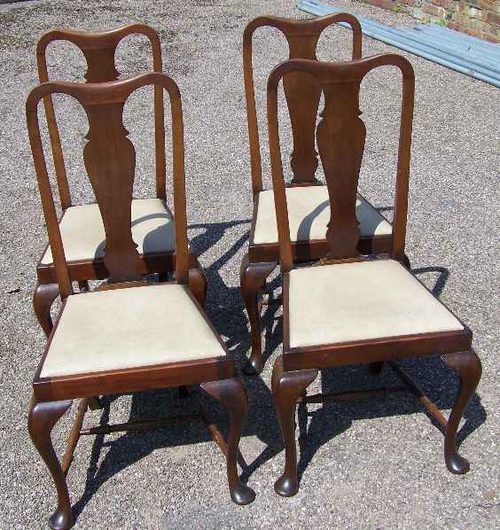 Marvelous Set Of Four Mahogany Cabriole Leg Chairs Antiques Atlas Gamerscity Chair Design For Home Gamerscityorg