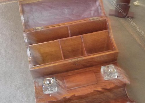 Stationery box Antique Desk Tidy ... - Antiques Atlas - Superb Walnut Desk Tidy. Stationery Box