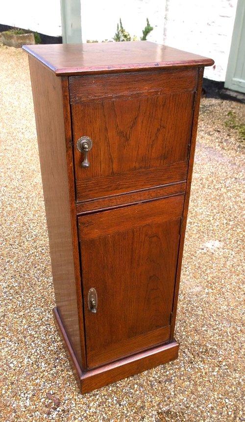 Tall Slim Oak Cabinet - Antiques Atlas