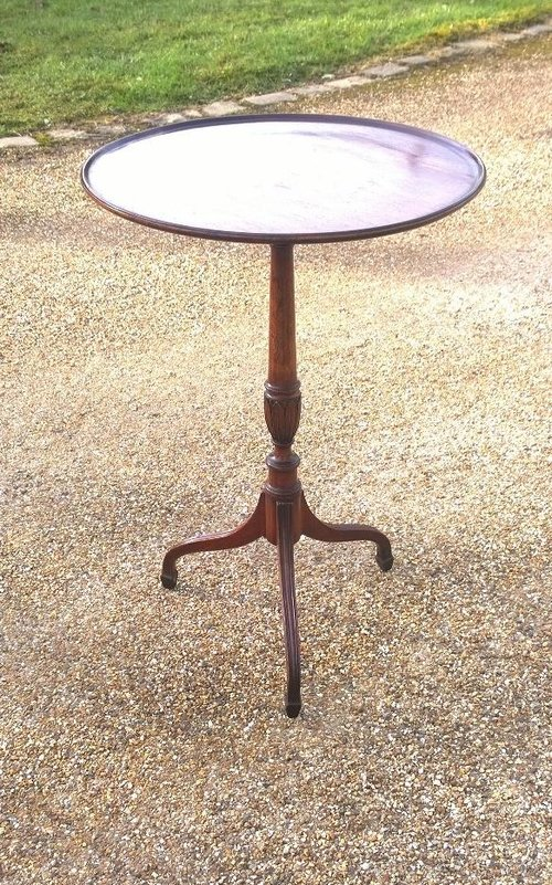 Vintage mahogany pedestal lamp table antiques atlas pedestal table mahogany lamp table mozeypictures Images