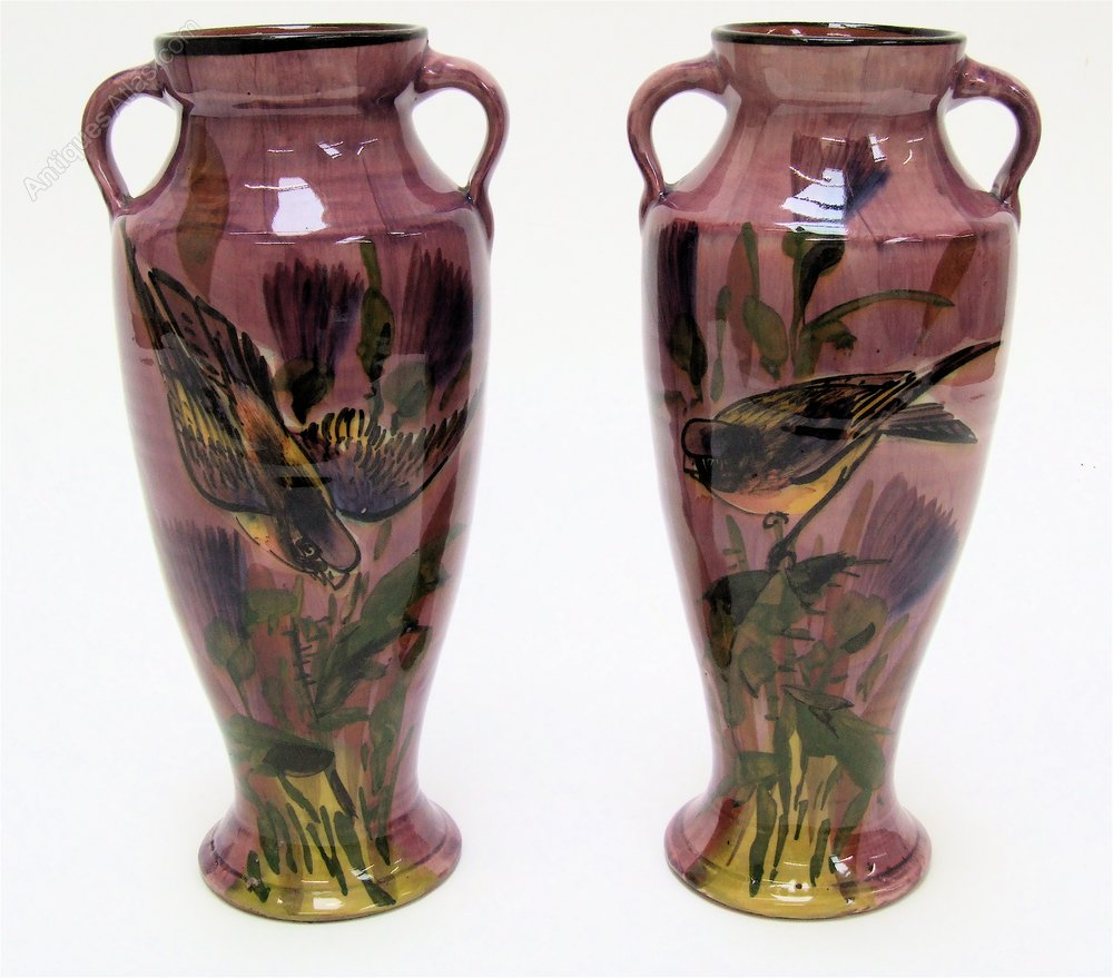 Antiques atlas superb pair lemon crute art pottery bird vases superb pair lemon crute art pottery bird vases reviewsmspy