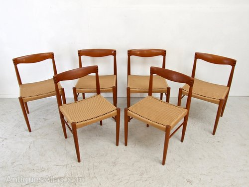 88128f7f0044 Antiques Atlas - SET 6 MID CENTURY H.W. KLEIN TEAK DINING CHAIRS