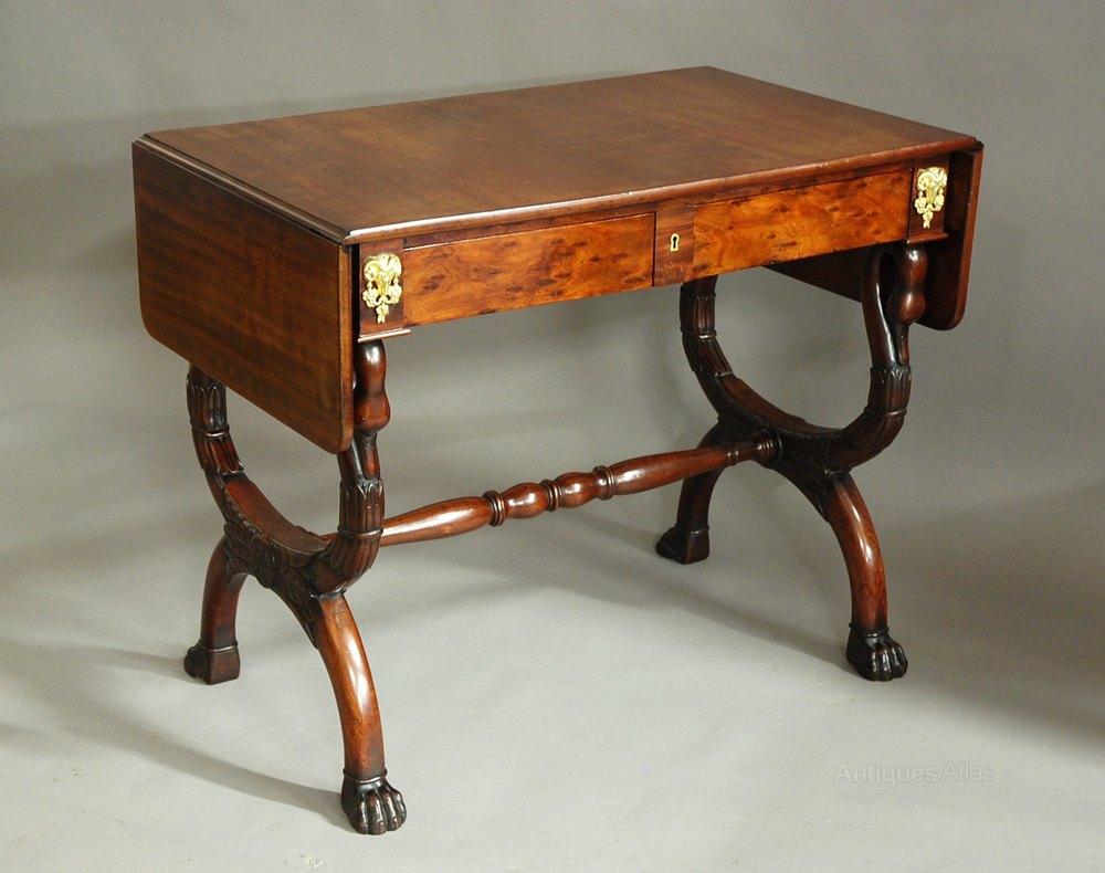 Early 19thc French Empire Mahogany Sofa Table ...