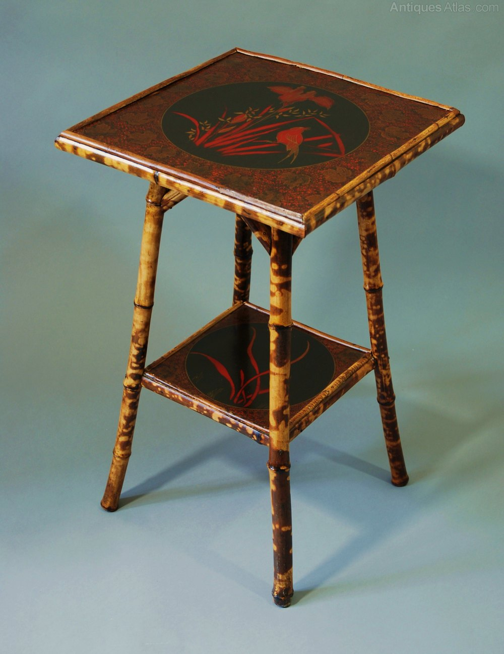 Early 20th Century Two Tier Bamboo Table Antiques Atlas