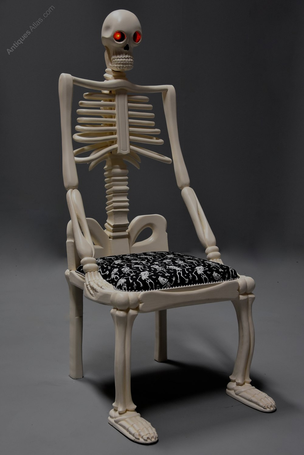 highly decorative carved painted skeleton chair antiques atlas