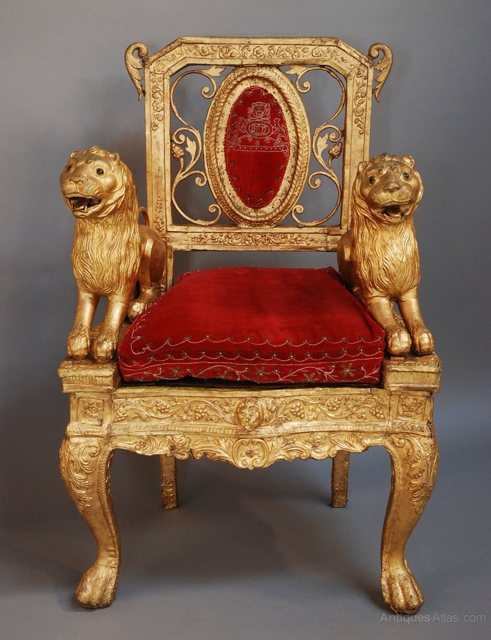 Mid/late 19th century Indian throne chair Antique ... - Mid/late 19th Century Indian Throne Chair - Antiques Atlas