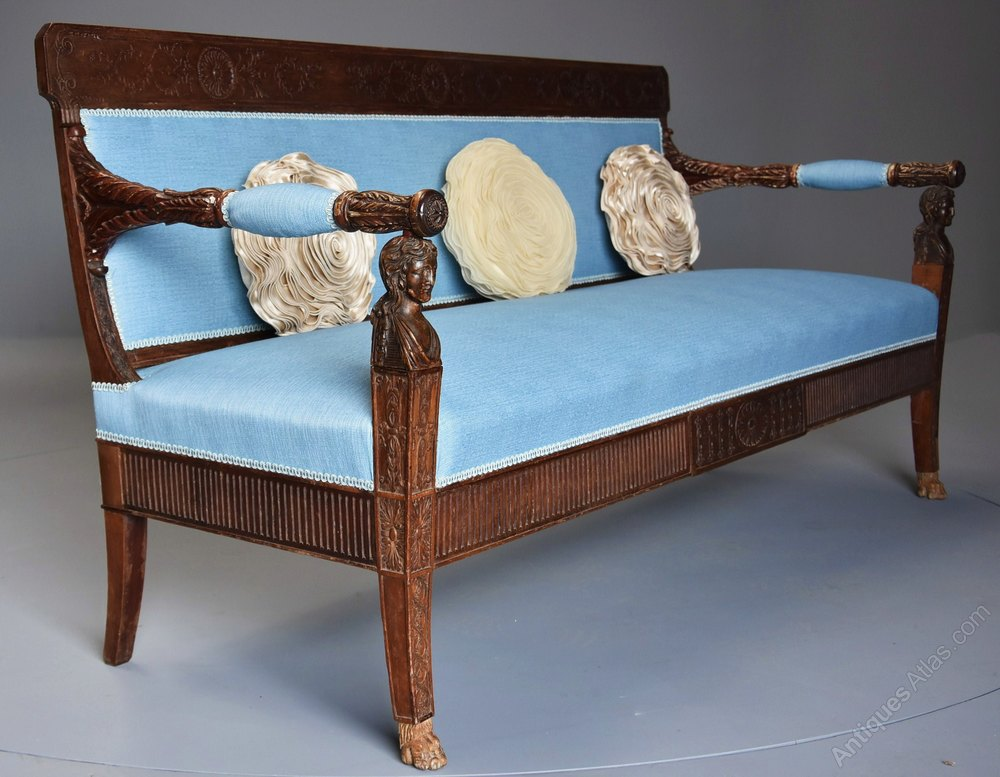 Rare 18thc Italian Sofa Of Neoclassical Design