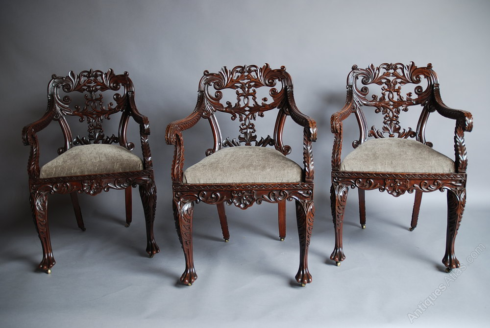 Set Of Six Anglo Indian Chairs Chair Sets Of 6 Antique Dining Chairs ...
