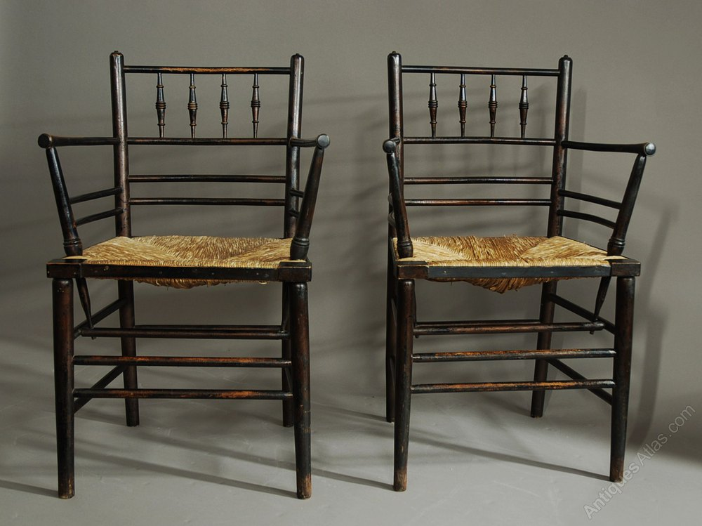 Set Of Six Morris Amp Co Sussex Chairs Antiques Atlas