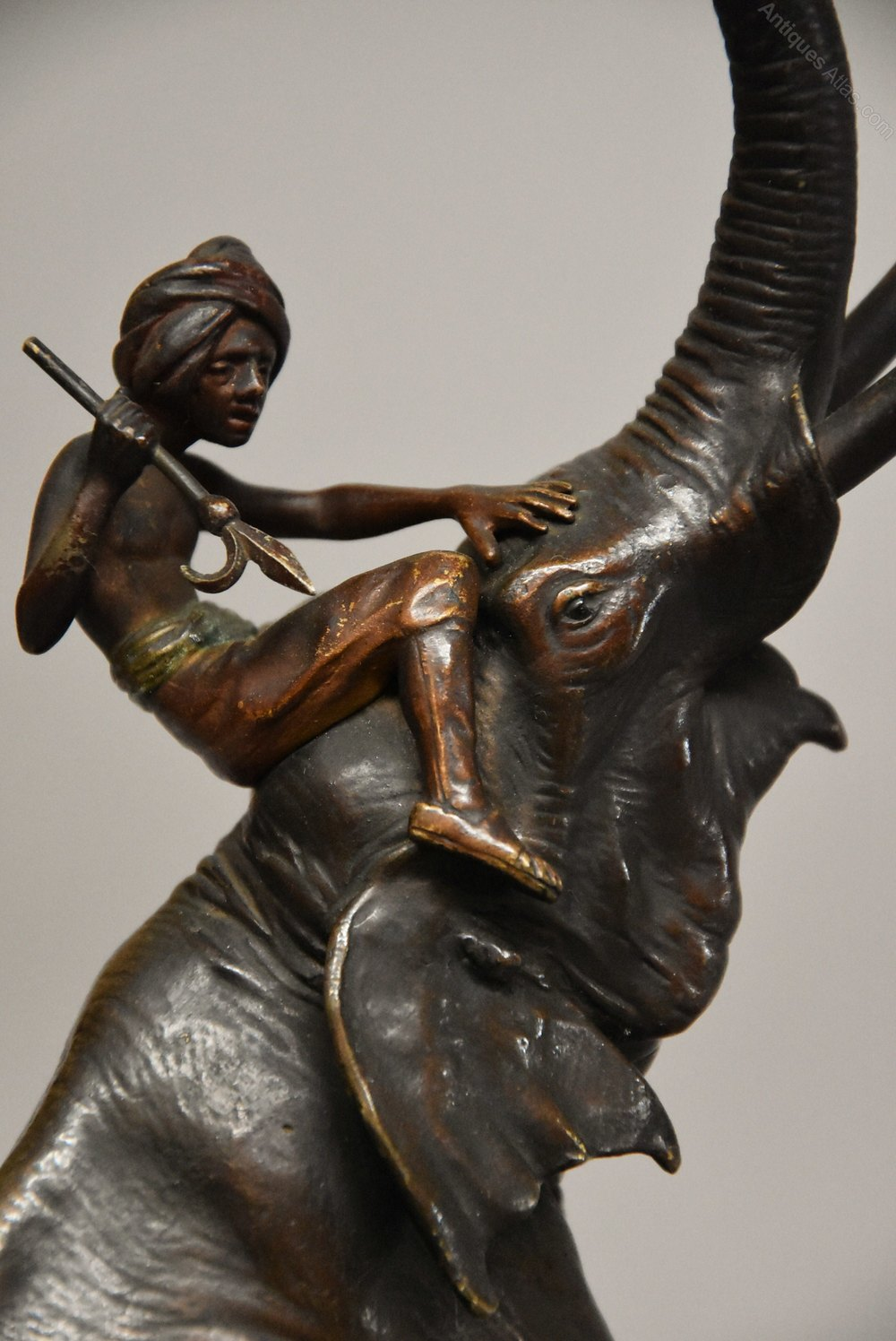 Superb 19thc Franz Bergman Bronze Elephant