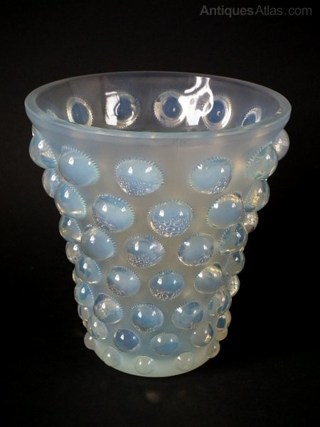 Antiques Atlas Rene Lalique Opalescent Glass Bammako Vase