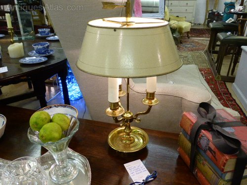 Antiques Atlas - Student Or Bouillotte 3 Branch Table Lamp