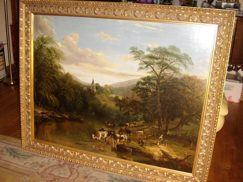 Antiques atlas 19th oil painting by thomas pritt cattle for Original oil paintings for sale by artist