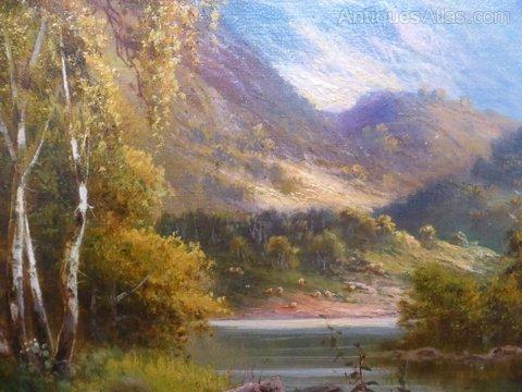 Banks For Sale >> Antiques Atlas - 19thc. Landscape Oil Painting By Frank Hider
