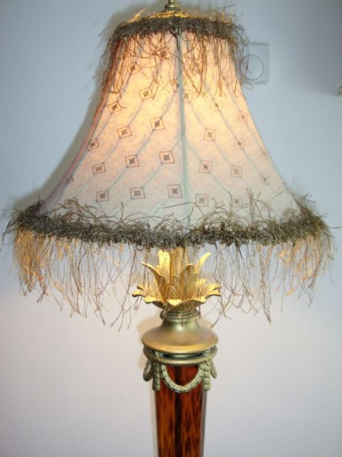 Antiques Atlas Art Deco Style Table Lamp With Amber Glass Stem