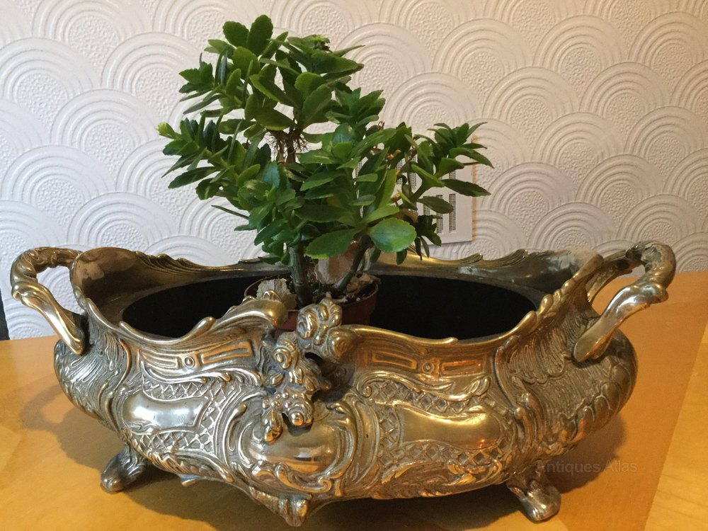 Antiques Atlas - Art Nouveau Solid Brass Table Planter