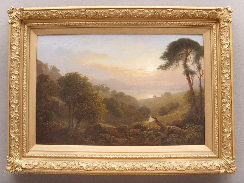 Antiques Atlas Landscape Oil Painting Nr Lovat Castle