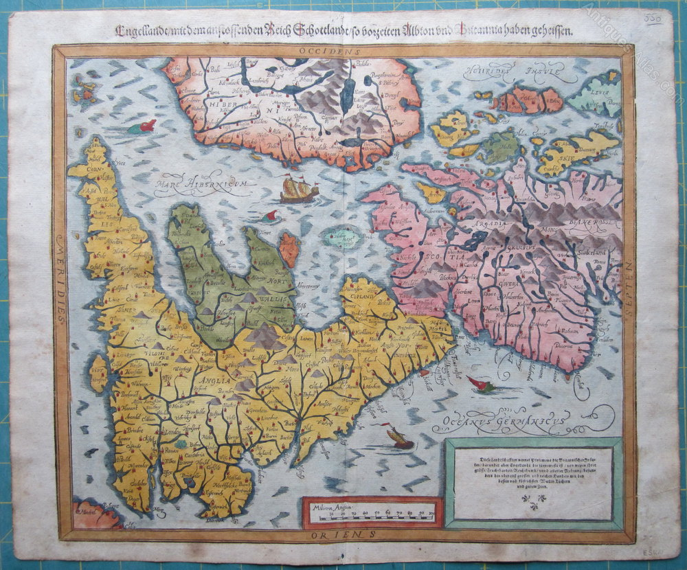 Antiques Atlas - Map Of Great Britain By Munster