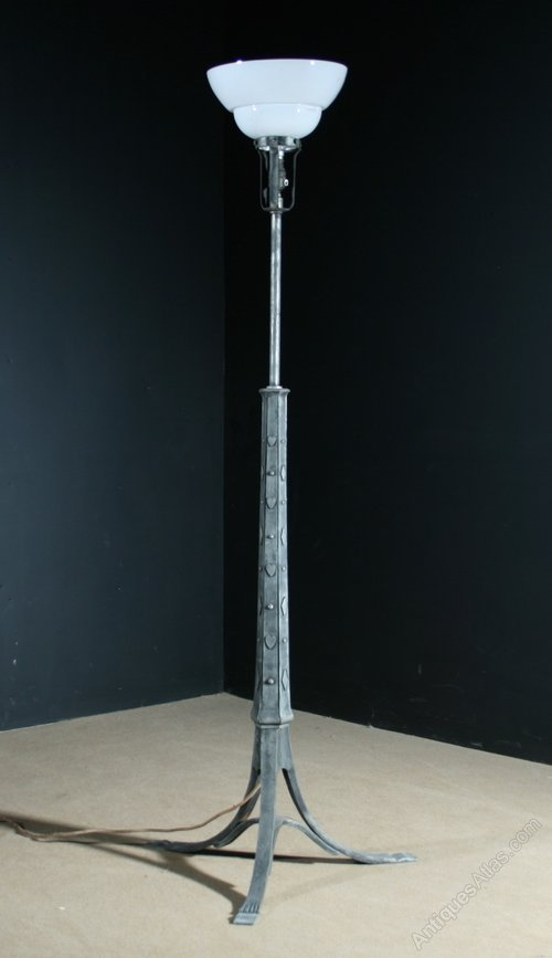 Antiques atlas large pewter floor lamp in the manner of voysey photos large pewter floor lamp aloadofball Images
