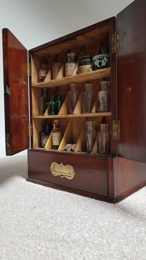Rare Georgian Double Sided Apothecary Cabinet