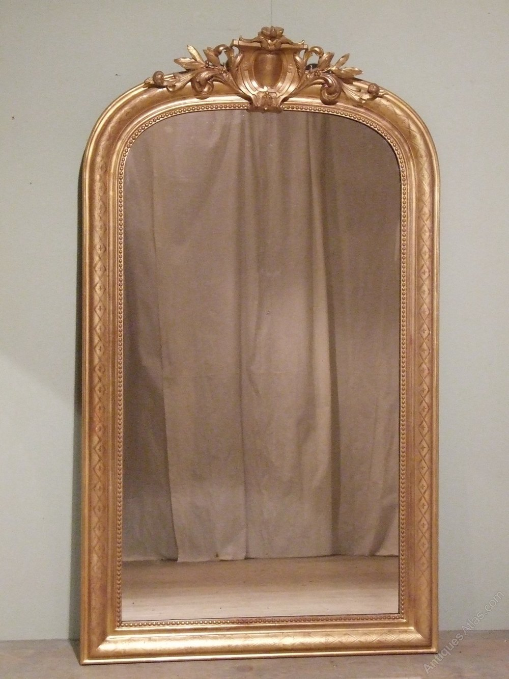 Antiques atlas antique french gilt wall mirror c1880 for Antique wall mirrors