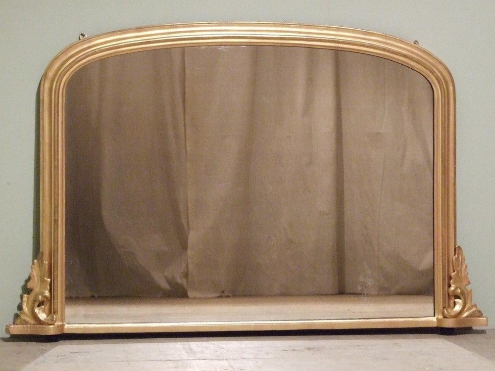Antiques atlas english gilt overmantle mirror overmantel for Overmantle mirror