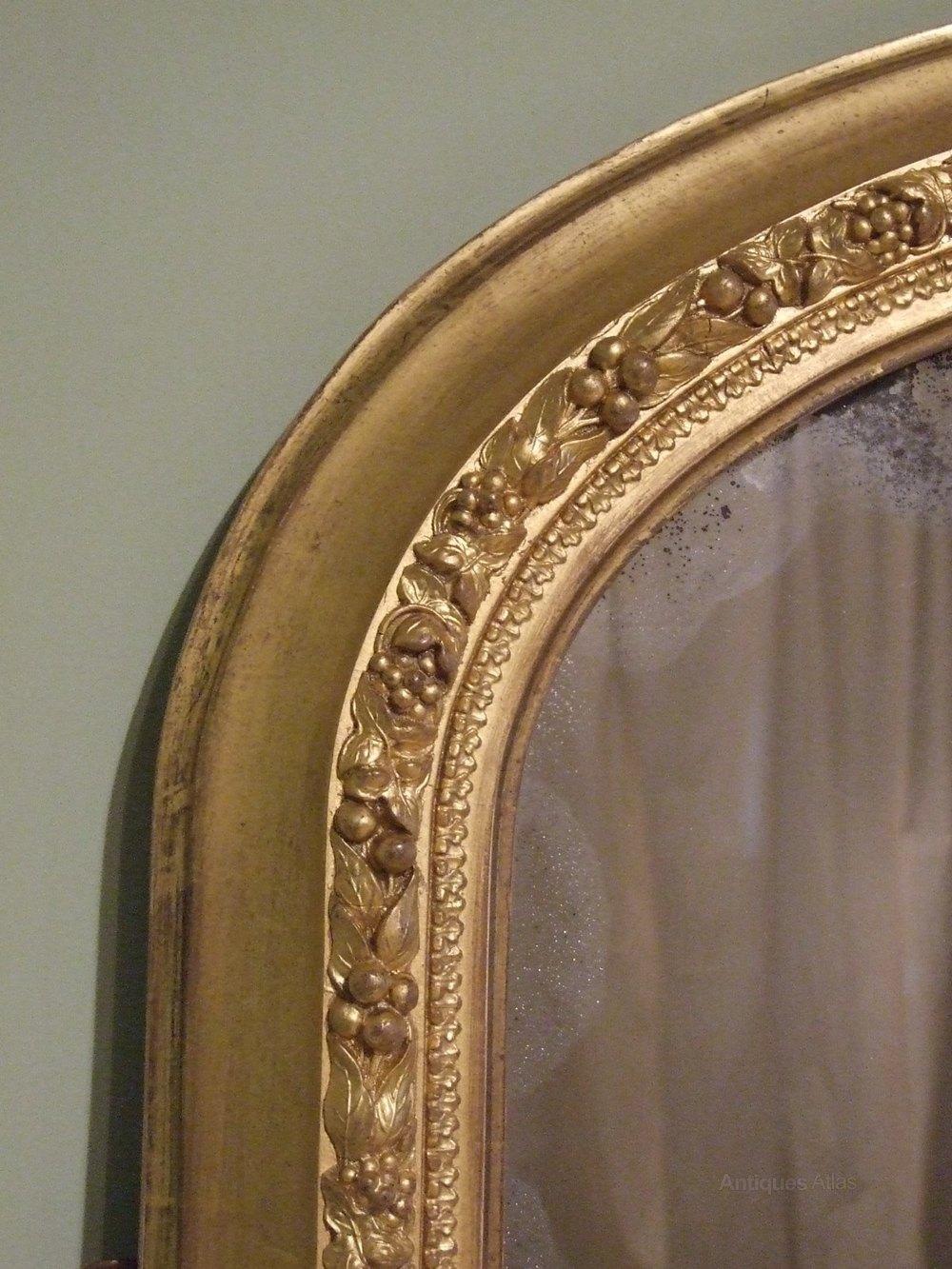 Antiques atlas large antique gilt overmantle mirror c1870 for Antique mirror