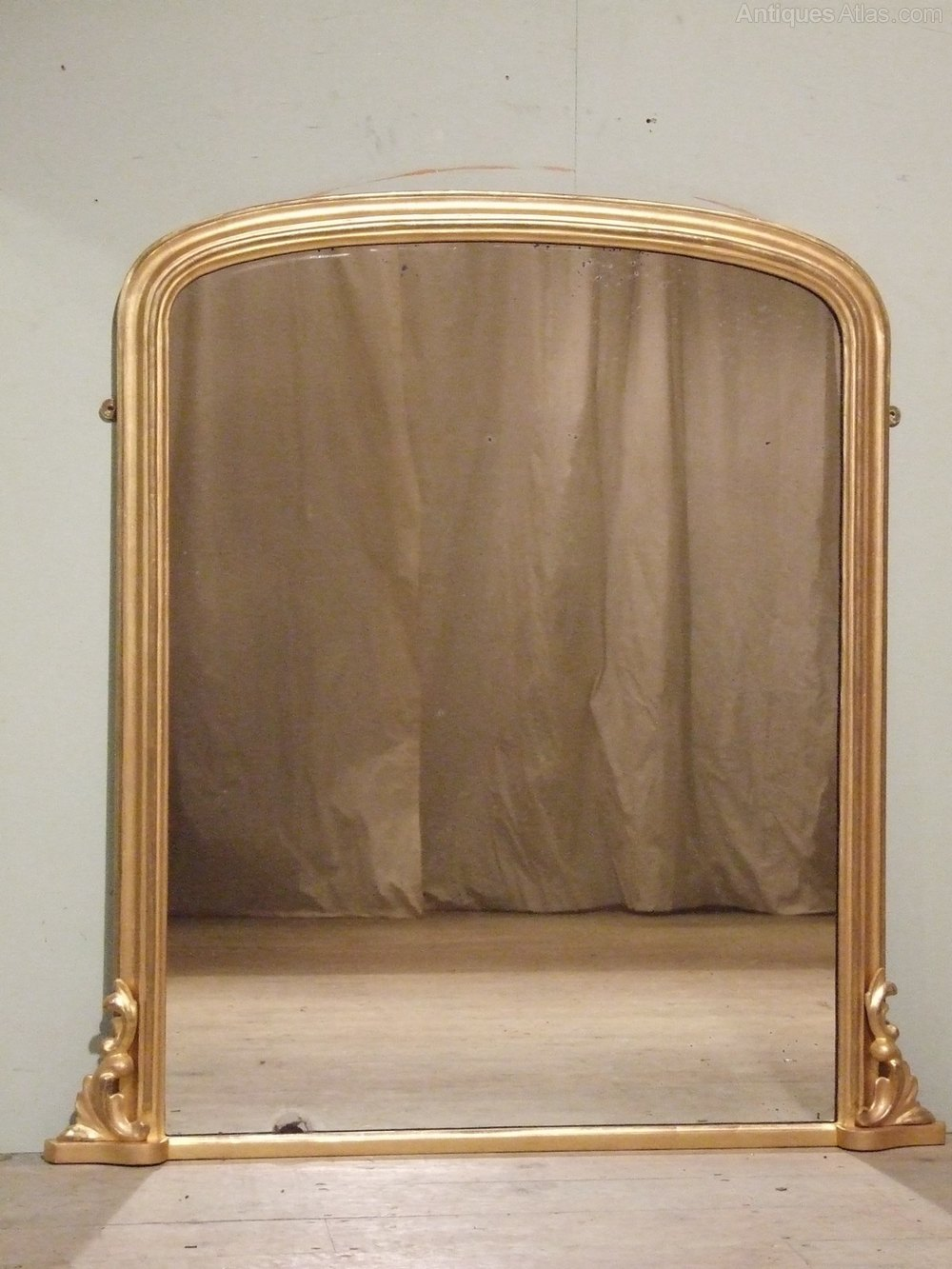 Antiques Atlas Large Antique Gilt Overmantle Mirror C1880