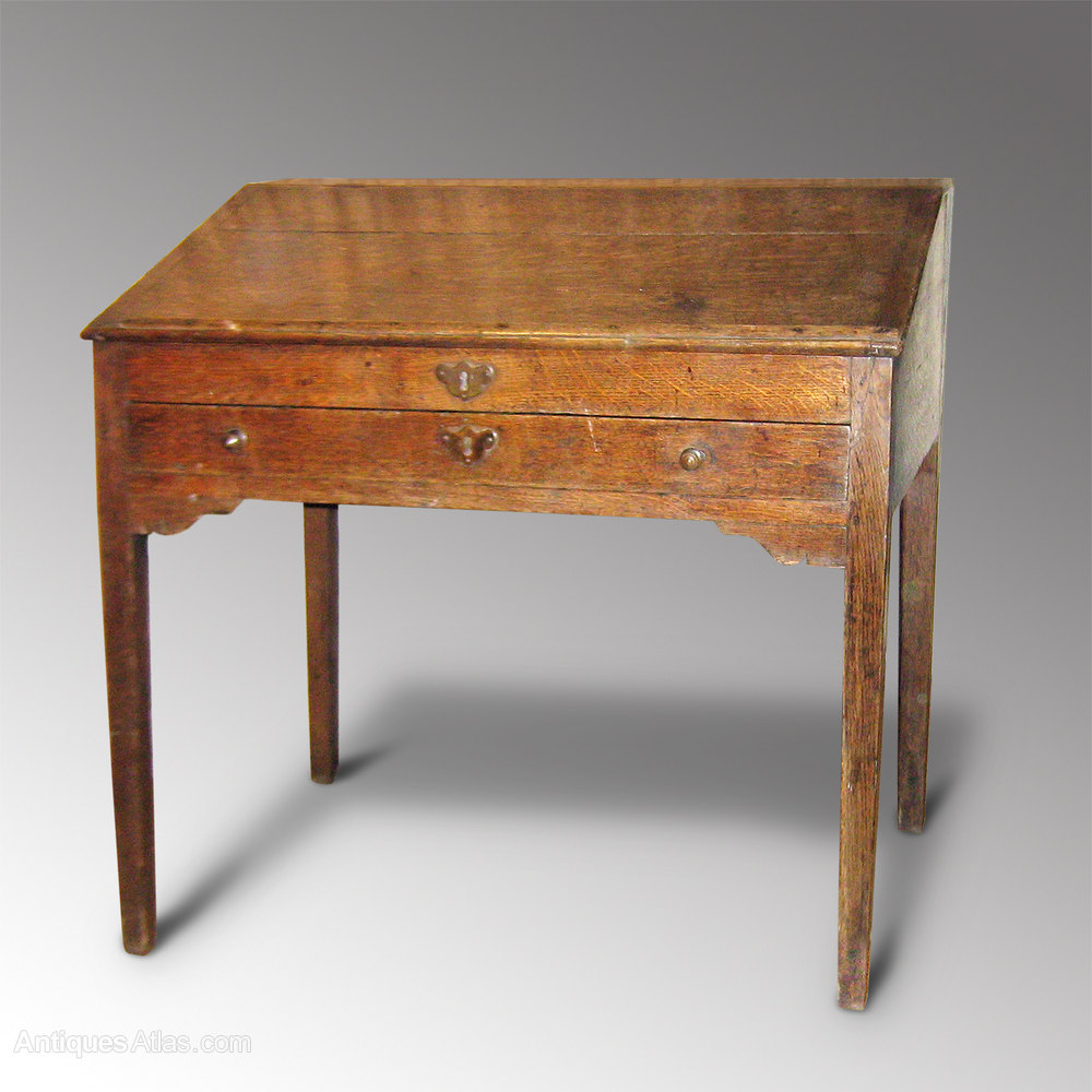 Antiques Georgian Clerks Desk