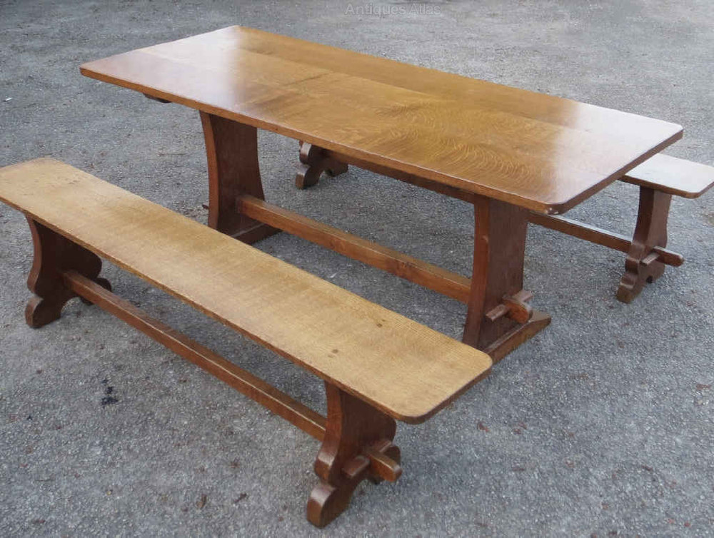 Oak Dining Table Benches By The Lizardman