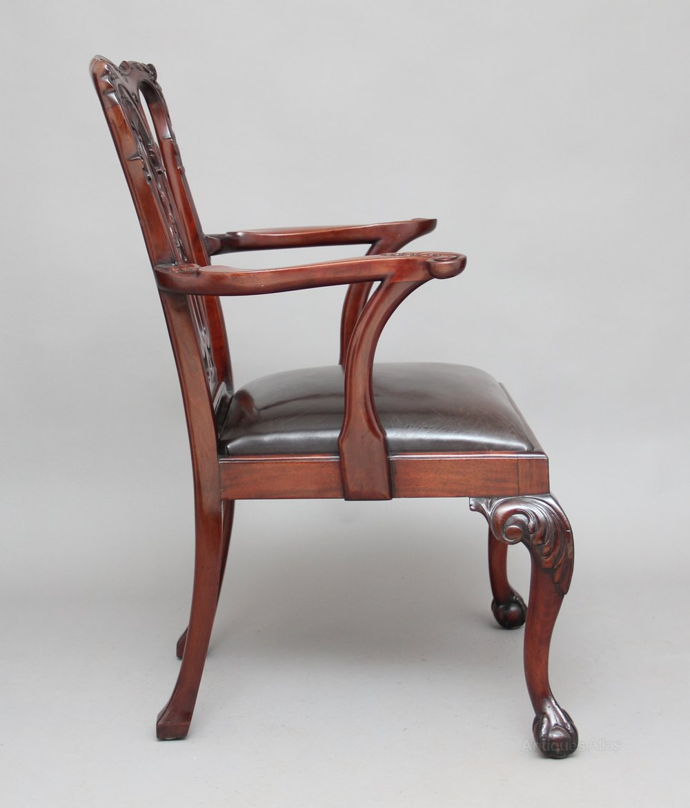 19th Century Chippendale Style Armchair Antiques Atlas