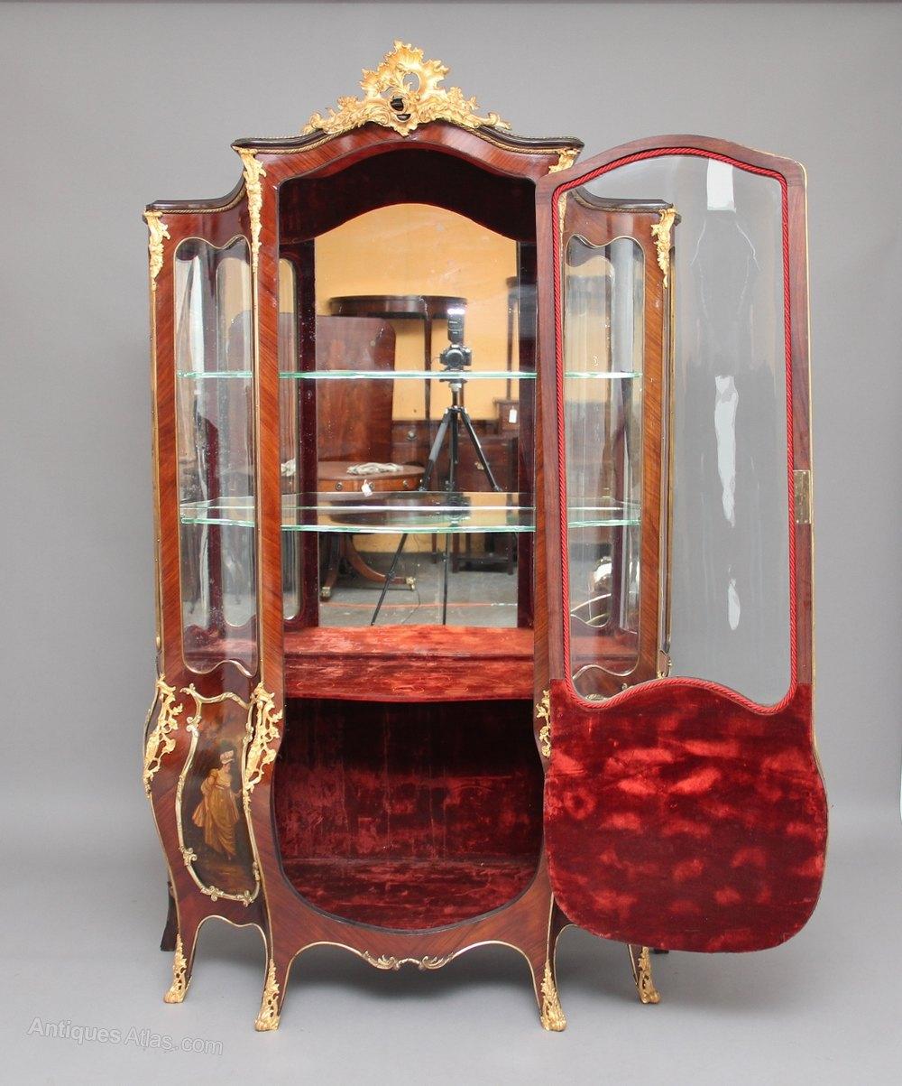 19th century french kingwood and ormolu vitrine antiques atlas. Black Bedroom Furniture Sets. Home Design Ideas