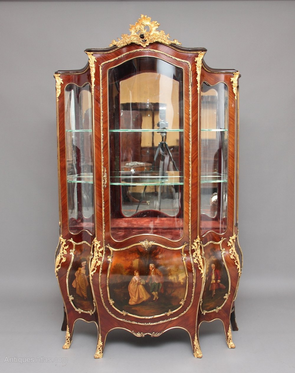 19th Century French Kingwood And Ormolu Vitrine Antiques