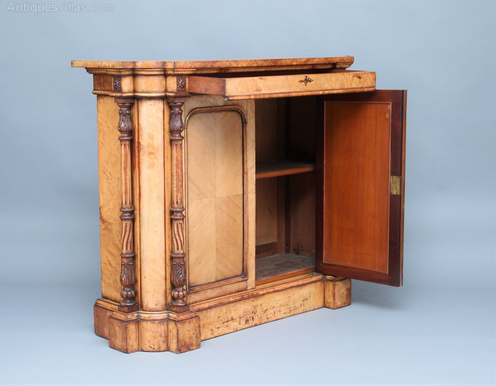 19th century birds eye maple cabinet antiques atlas for Birds eye maple kitchen cabinets
