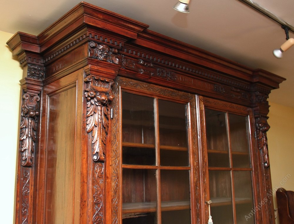 above kitchen cabinets 19th century walnut bookcase cabinet antiques atlas 10427