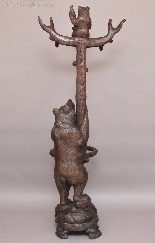 A Black Forest Carved Wood Bear Coat Stand Antiques Atlas