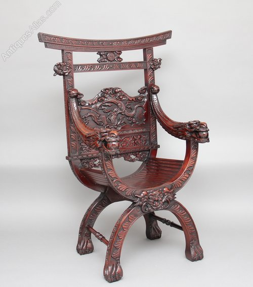 - Chinese Carved Throne Chair - Antiques Atlas